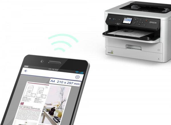 imagen movil impresora Epson Workforce WF-M5298DW
