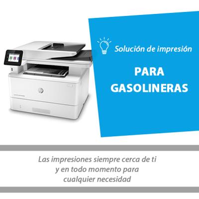 Imagen solución de impresión para gasolineras