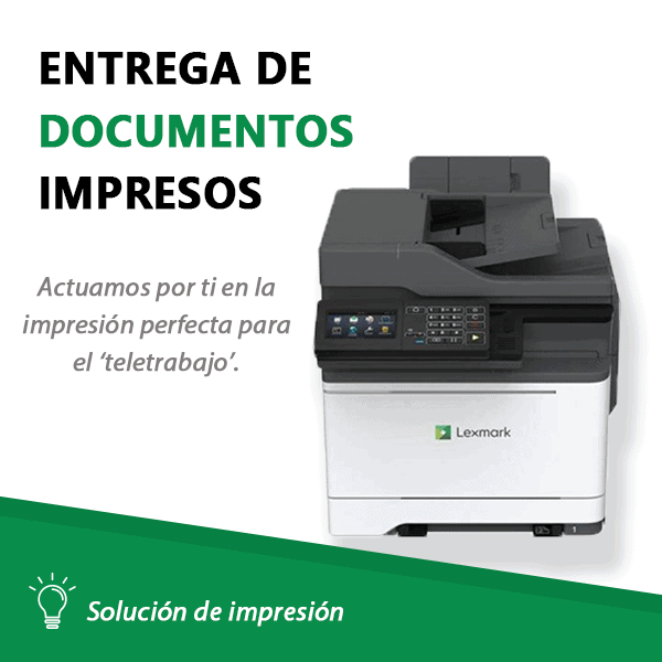 Imagen Entrega de documentos impresos
